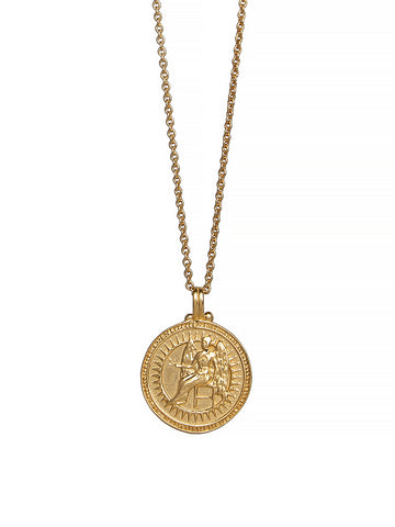 Virgo Zodiac Horoscope Necklace Gender Neutral Gold Vermeil 星座 乙女座