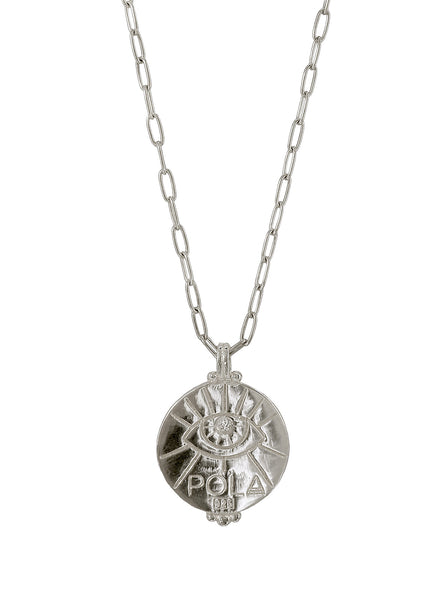 A positive Blood type Sangre Necklace. Gender neutral Jewelry Collection. Sterling Silver. 血液型 Ketsueki gata. Third Eye