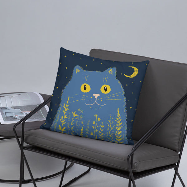 Night Cat Pillow