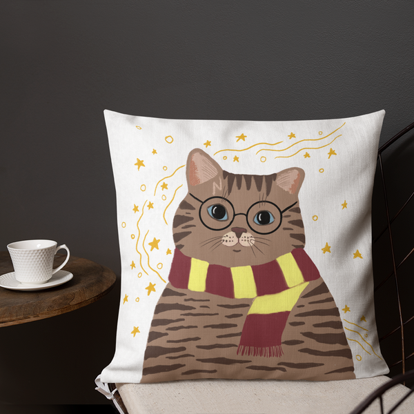 Tabby Hairy Pawter Pillow