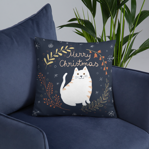 Christmas Cat  Pillow