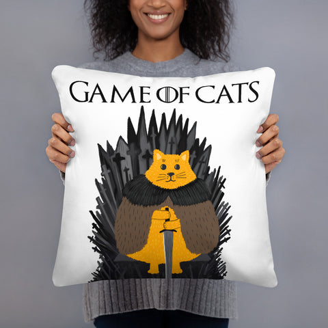 Game Of Cats Pillow