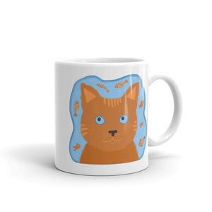 Orange Cat Mug | Cute Cat Mug | Ceramic Mug