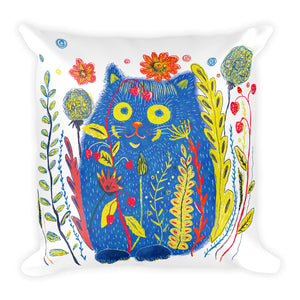 Flower Cat Pillow