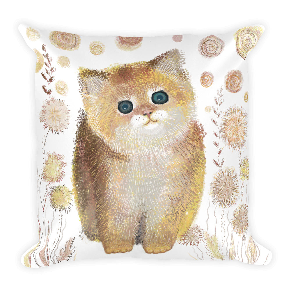 Yellow Cat  Pillow