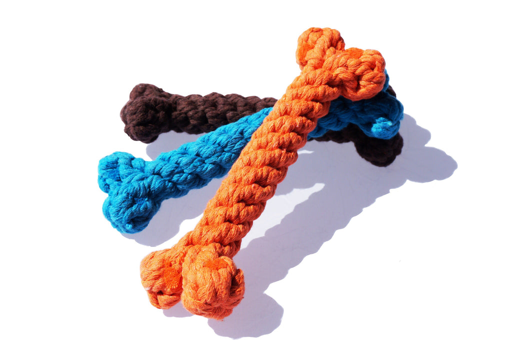 Bone Rope Toy Set of 3 - The Farting Dog Company