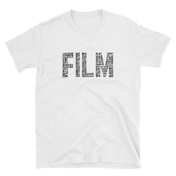 FILM word collage t-shirt