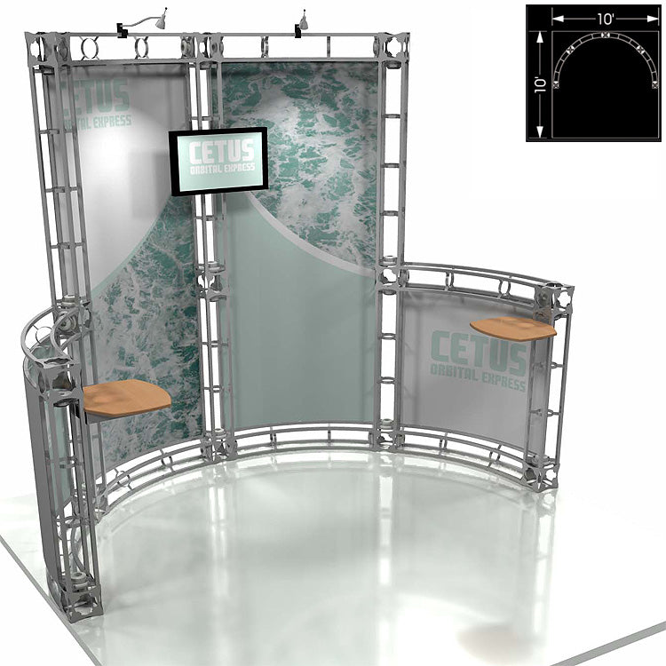 Cetus Express 10' x 10' Truss Trade Show Display Booth