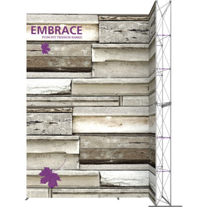 12 x 15 Ft. (4 x 3 Quad) Embrace Stackable Single Sided Trade Show Display Without End Caps