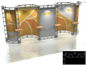 Arcturus Express 10' x 20' Truss Trade Show Display Booth