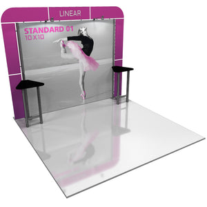 Linear Standard 10' x 10' Backwall Display Kit 01