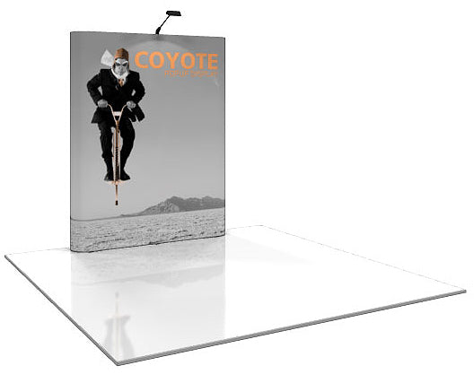 6 Ft. (2 x 3 Quad) Coyote Pop Up Display With Full Graphics- Straight - Replacement Graphics