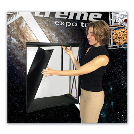 6 Ft. (2 x 3) Coyote Pop Up Display With Full Graphics - Curved - Product Accessory Assembly - Step 1