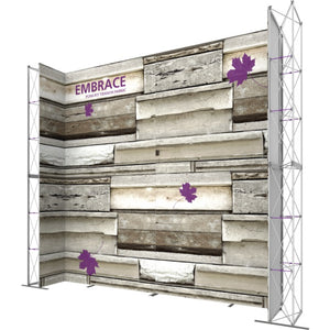17 x 15 Ft. (3 x 3 Quad) Embrace Stackable Single Sided Trade Show Display Without End Caps - Right View