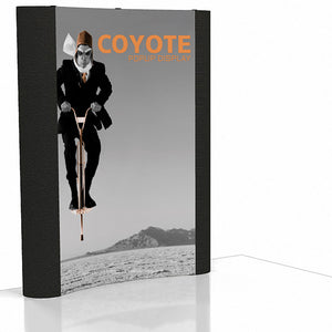 6 Ft. (2 x 3) Coyote Pop Up Display With Front Graphic Mural And Fabric End Caps - Curved