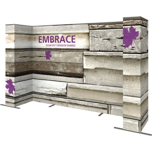 14 Ft. Embrace U-shape Full Height Single Sided Front Graphic Trade Show Display With End Caps - Right Side