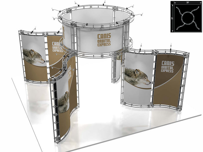 Canis Orbital Express 20' x 20' Truss Trade Show Display Booth