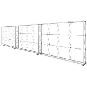 30 Ft. (12 x 3 Quad) Embrace Full Height Trade Show Inline Single Sided Display with End Caps - Frame Right View