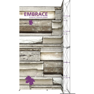 10 x 15 Ft. (3 x 3 Quad) Embrace Stackable Single Sided Trade Show Display Without End Caps
