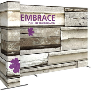 11 Ft. Embrace L-shape Full Height Double Left Sided Front Graphic Trade Show Display With End Caps - Left View 1