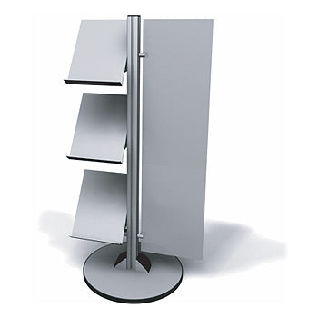 Exhibitline LIT1.V2.L Three Shelf Literature Stand