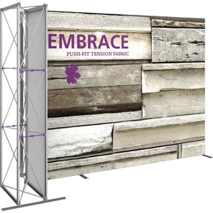 11 Ft. Embrace L-shape Full Height Double Left Sided Front Graphic Trade Show Display Without End Caps - Left Side View 1