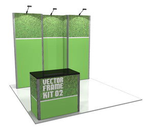 Vector Frame 2 10' x 10' Trade Show Display Kit