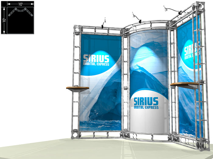 Sirius Orbital Express 10' x 10' Truss Trade Show Display Booth