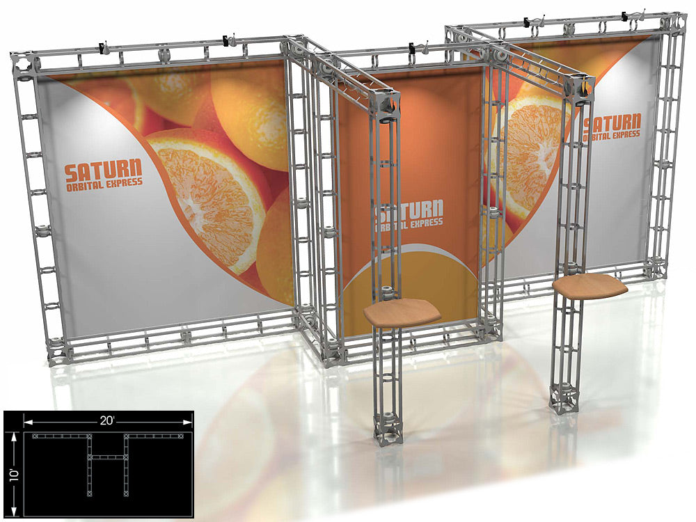 Saturn Express 10' x 20' Truss Trade Show Display Booth