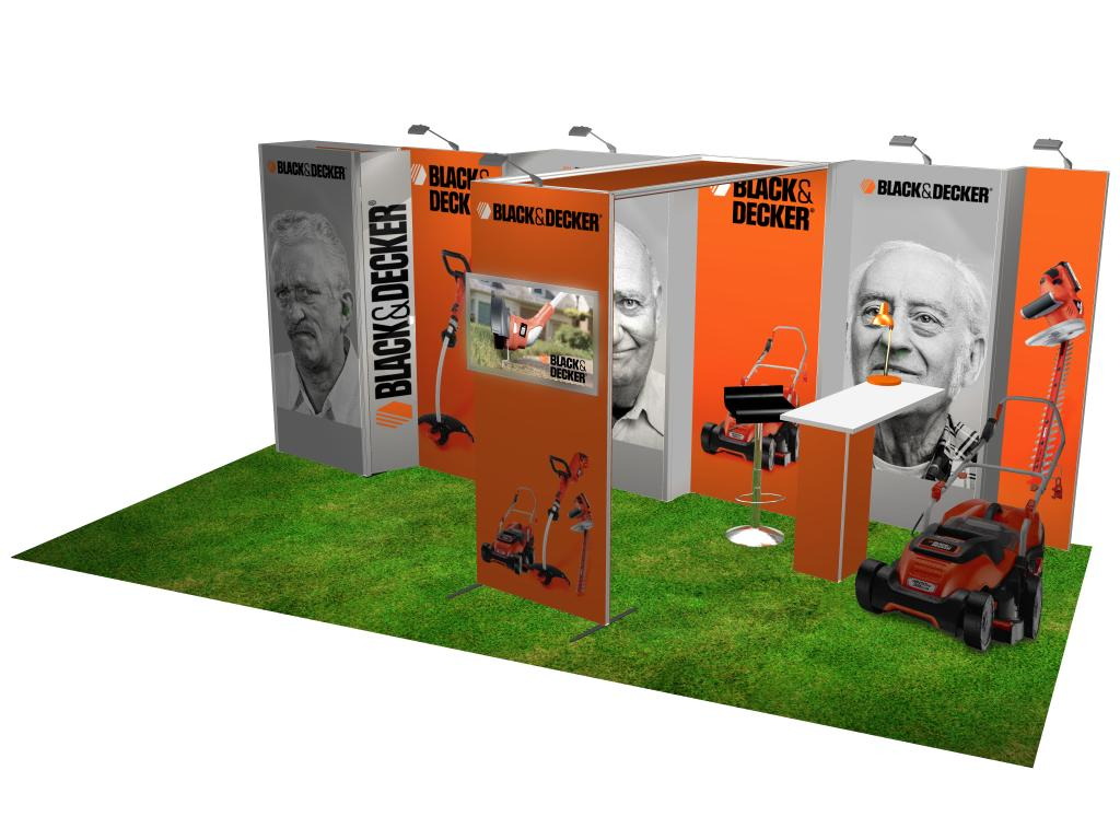 Modular Exhibition Stands Xbox : H line 10ft x 20ft modular exhibit model 3 rent or purchase