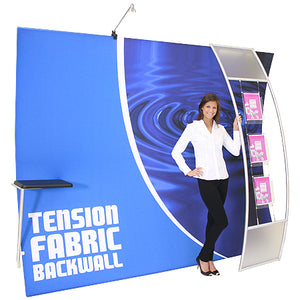 Formulate HC2 10' x 10' Horizontally Curved Trade Show Display  - Product Assembly - Stage 4
