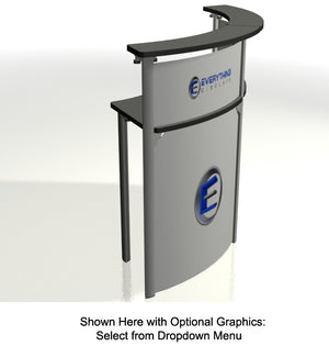 Exhibitline RD45.2 Trade Show Reception Desk Counter - Optional Graphics