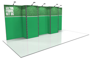 Vector Frame 6 10' x 20' Trade Show Display Kit
