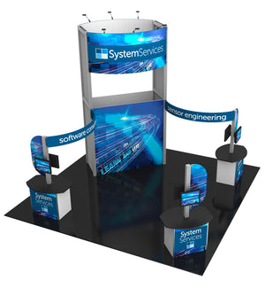 20' x 20' Hybrid Pro Modular Island Exhibit Kit 17 - Product View 3