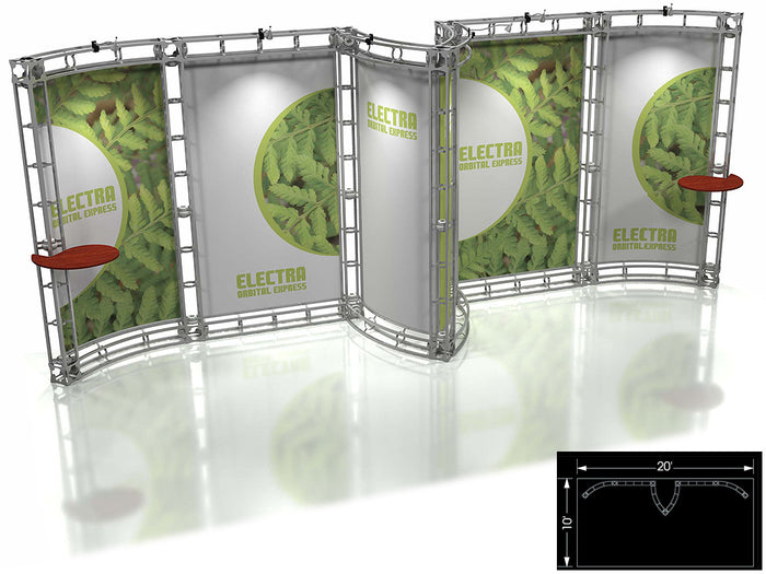 Electra Orbital Express 10' x 20' Truss Trade Show Display Booth