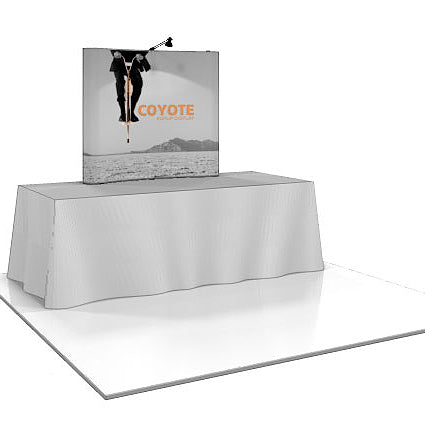 6 Ft. (2 x 2) Coyote Mini Table Top Pop Up Display With Full Graphics - Curved