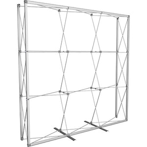 7 1/2 Ft. (3 x 3 Quad) Embrace Full Height Trade Show Display Without End Caps in Frame View