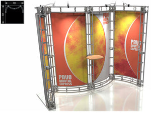 Pavo Express 10' x 10' Truss Trade Show Display Booth