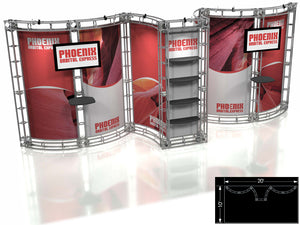 Phoenix Express 10' x 20' Truss Trade Show Display Booth