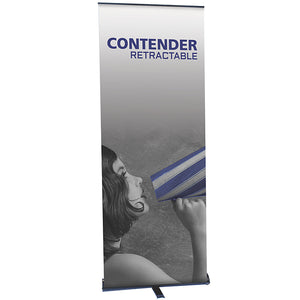 Contender Banner Stand - Up Close
