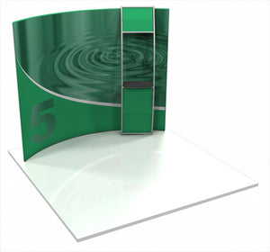 Formulate HC5 10' x 10' Horizontally Curved Trade Show Display