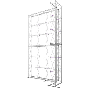 10 x 15 Ft. (3 x 3 Quad) Embrace Stackable Double Sided Trade Show Display With End Caps - Frame Right View