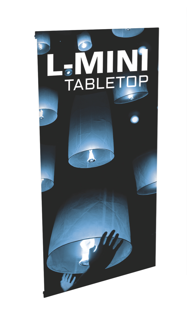 L-Mini Table Top Banner Stand