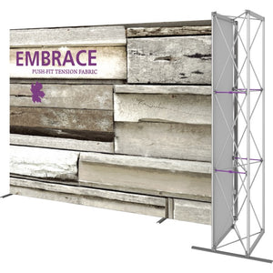 11 Ft. Embrace L-shape Full Height Single Right Sided Front Graphic Trade Show Display Without End Caps - Right View