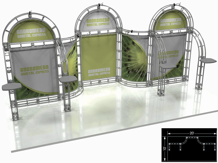Andromeda Orbital Express 10' x 20' Truss Trade Show Display Booth