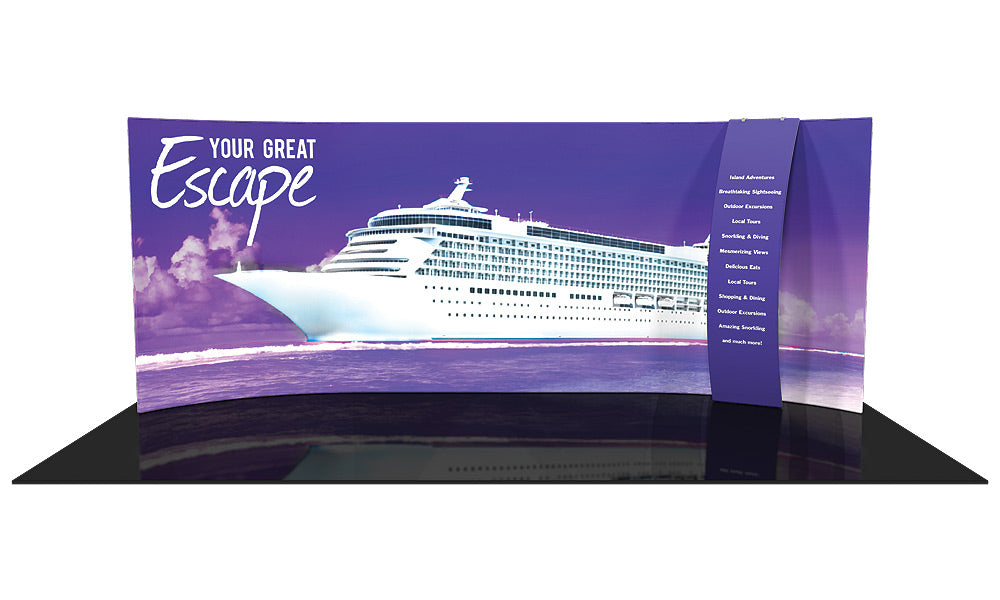 Formulate WH1 10' x 20' Horizontal Curved Trade Show Display