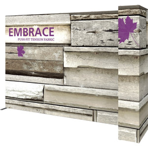 11 Ft. Embrace L-shape Full Height Single Right Sided Front Graphic Trade Show Display With End Caps - Right VIew