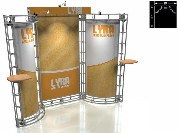 Lyra Orbital Express 10' x 10' Truss Trade Show Display Booth