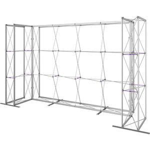 14 Ft. Embrace U-shape Full Height Single Sided Front Graphic Trade Show Display With End Caps - Frame Right View