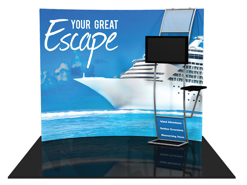 Formulate HC8 10' x 10' Horizontally Curved Trade Show Display